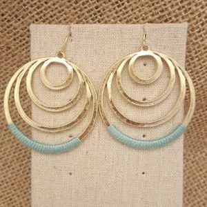 Jewelry - Fabric Wrapped Circle Earrings